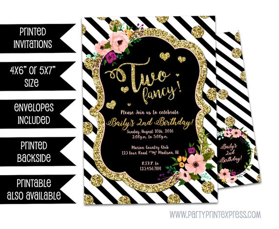 two fancy birthday invitations two fancy invitation girl 2nd