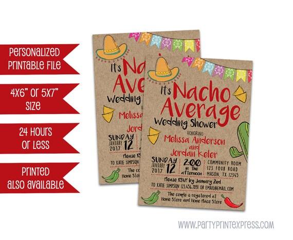 Average Gift For A Wedding: Printable Nacho Wedding Shower Invitation Nacho Average