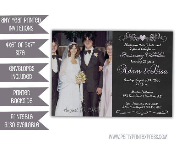 Silver Anniversary Party Invitations