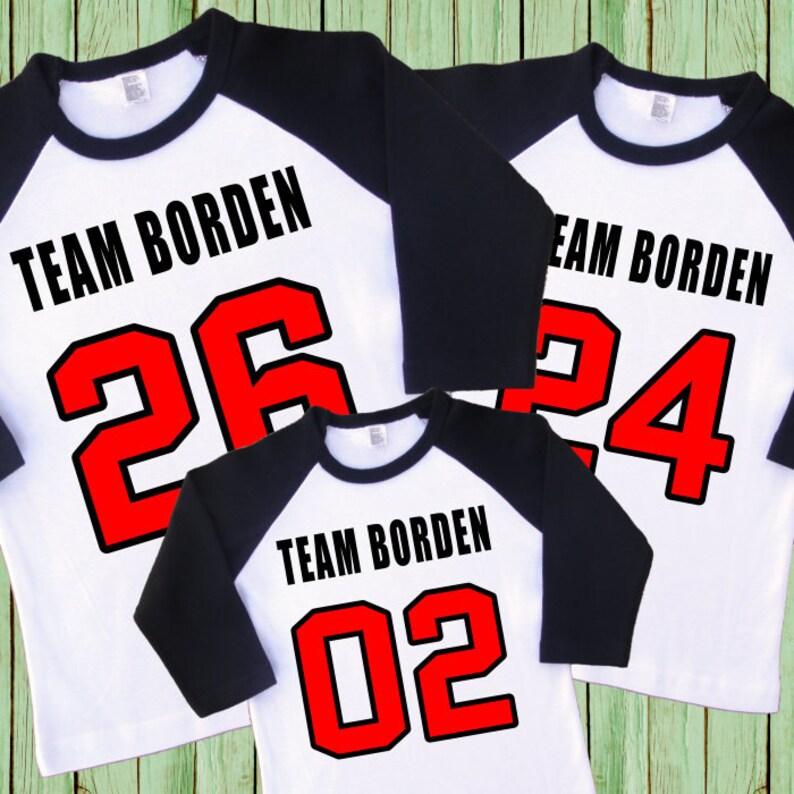Family Team Jerseys. Family Team Shirts. Number Jerseys.  fafe9017766c