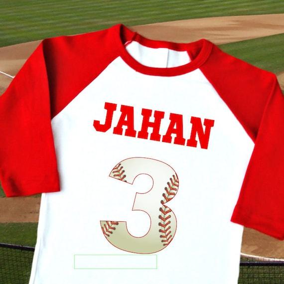 Baseball Birthday Shirt Personalized Raglan With