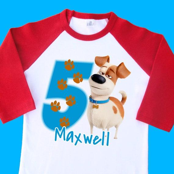 Personalize Secret Life of Pets Birthday Shirt