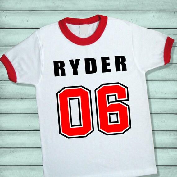 Birthday Number Ringer Tee Shirt