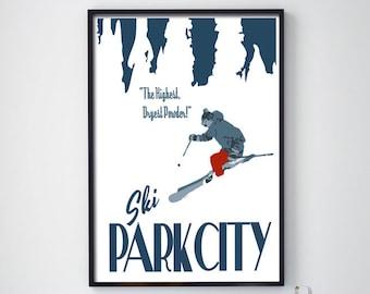 Utah Ski Skiing Park City Lifts Snowbird Alta Eden 16X20 Poster FREE SH in USA
