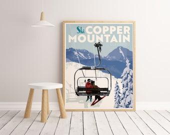 Copper Mountain Colorado Poster, Copper Mountain Wall Art Print