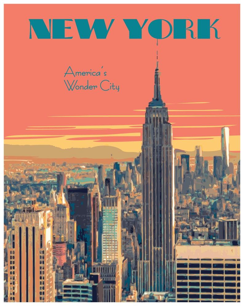 New York Travle Print