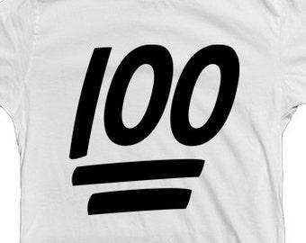 ec6e1ef0 100 emoji shirt keep it 100 shirt custom emoji t-shirt