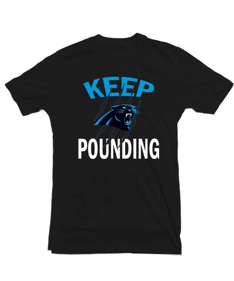 Carolina Panthers T shirt Keep Pounding Cam Newton Dab on em  8c266a7aa
