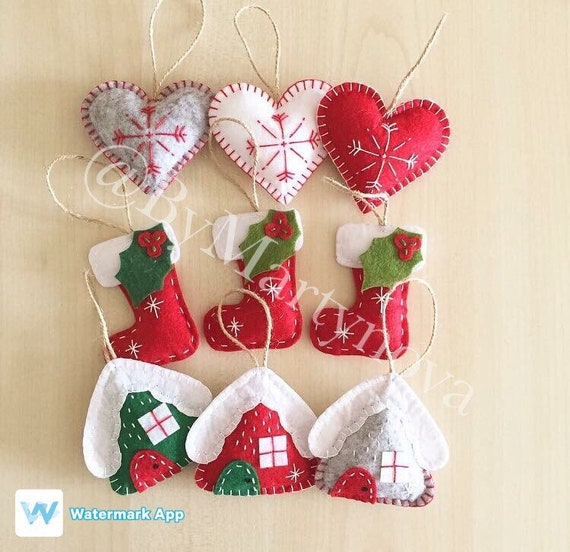 image 0 - Handmade Felt Christmas Decorations