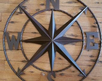Compass Wall Decor Etsy