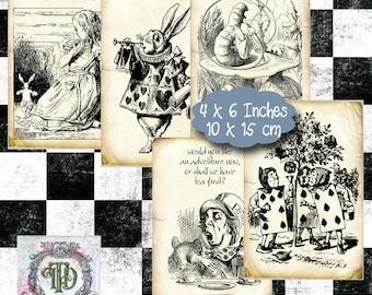 Alice in Wonderland Tags Set 1