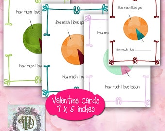 How much I love you Valentine Day Card designs