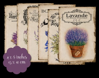 6 Lavender Tags