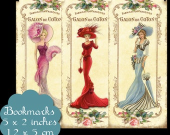 8 Vintage Elegance Bookmarks Set 1