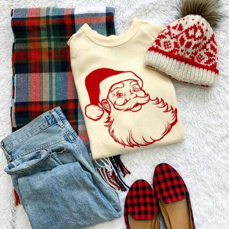 Vintage Santa Sweatshirt image 0