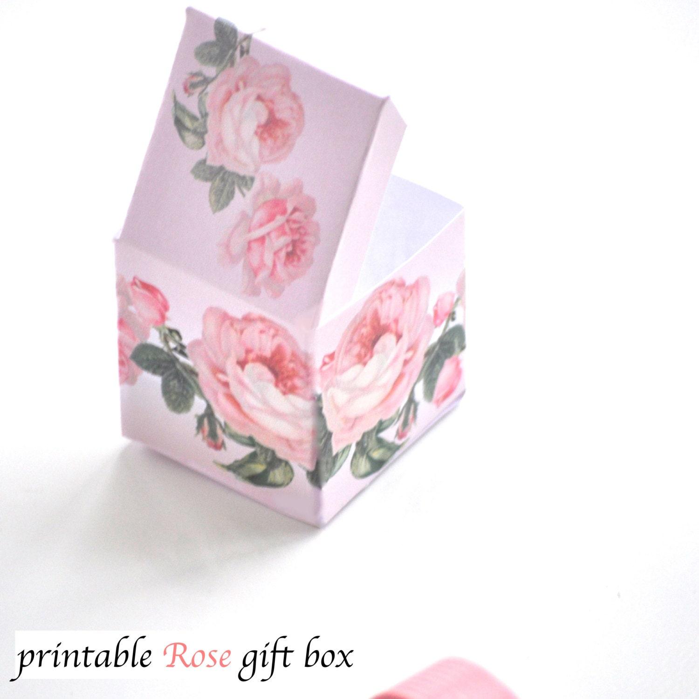 rose box instant download printable gift box vintage   Etsy