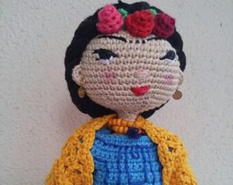 Frida Kahlo Plush Frida Amigurumi Frida Stuffed Doll Toy Frida Movable Amigurumi Toy Frida Plushie Frida Stuffed Toy, Frida Soft Toy