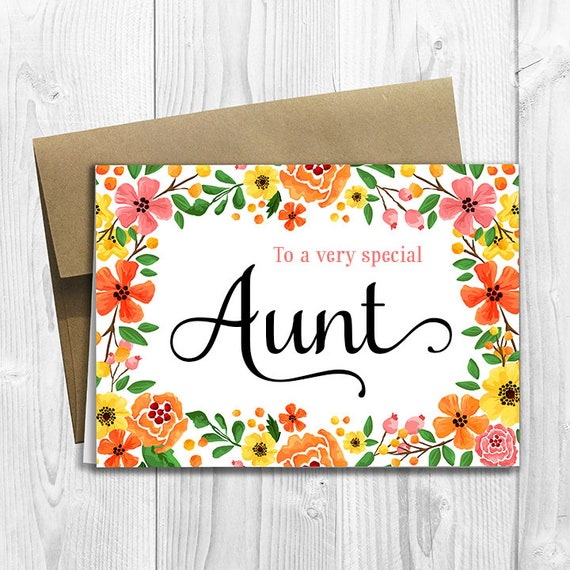 To A Very Special Aunt Mother S Day Birthday Any Etsy