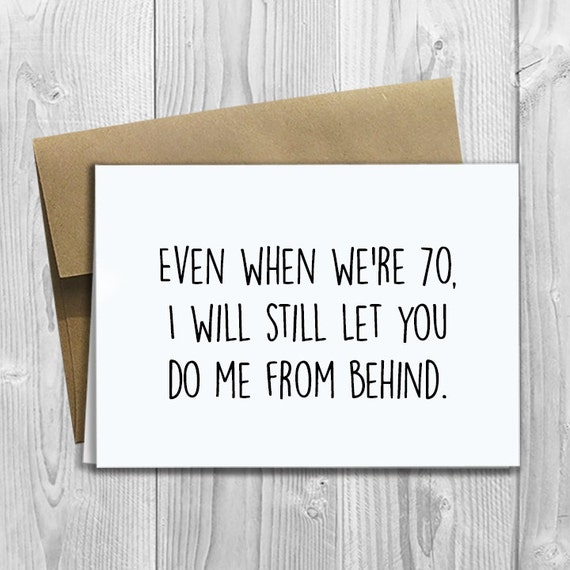 PRINTED Do Me From Behind 5x7 Greeting Card - Funny Anniversary, Love, Birthday, Friendship Notecard