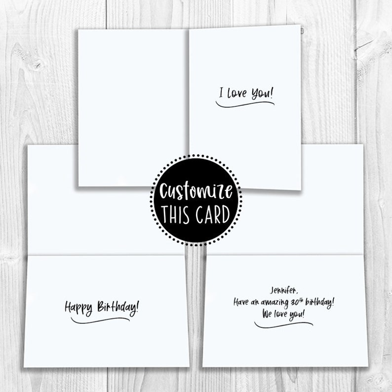 Funny Love Friendship Notecard Birthday PRINTED I Smile Because You/'re My Best Friend 5x7 Greeting Card