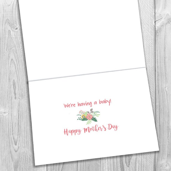 PRINTED This Mother/'s Day you have another reason to celebrate Expecting Notecard Pregnancy Announcement 5x7 Greeting Card