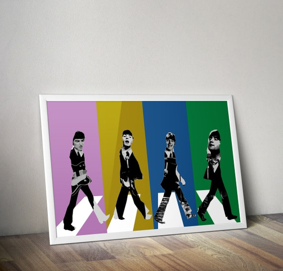 The Beatles GIFT POSTER # 4 Pop-Art  ENGLISH BAND  WALL DECOR A3//A4 SIZE