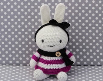 miffy doll pink striped dress ( Ready to Ship)