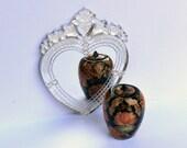Heart Shaped Venetian Mirror dollhouse miniature 1 12