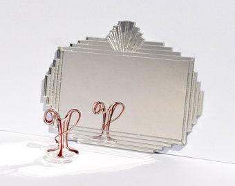 Art Deco square Mirror dollhouse miniature 1:12