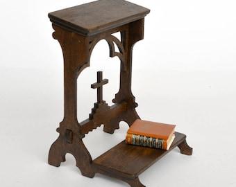 Victorian Prayer Bench dollshouse miniature kit 1:12