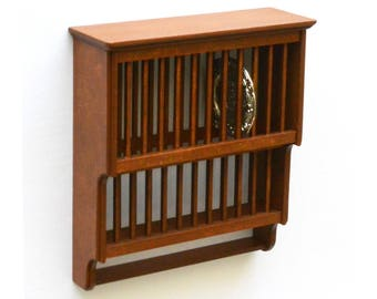 Victorian Plate Rack dollshouse miniature kit 1:12