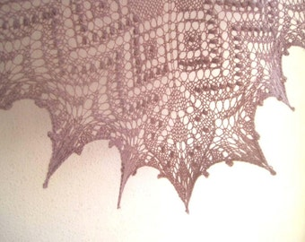 Luella Lace Shawl Knitting Pattern - Instant download PDF - top-down triangular