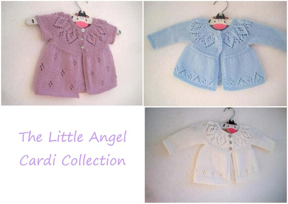 94a8c79ba The Little Angel Cardi Collection Knitting Pattern E-Book