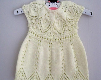 Annie Dress - Knitting Pattern - Baby girl to age 6  - Instant Download PDF