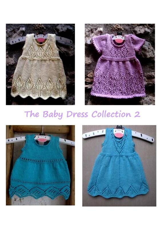 2adb1f7a9d0d Knitting pattern e-book Baby Dresses Instant Download PDF