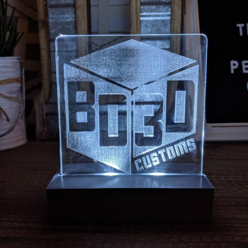 Custom led lit acrylic sign