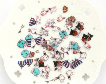 NEW 80 Pcs Japanese Sentimental Circus Flake Stickers Sack