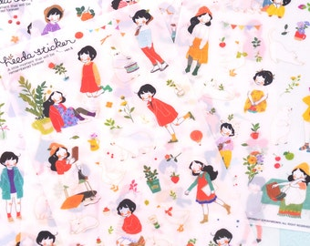 Korean Heeda Diary Planner Sticker (6 sheets)V2