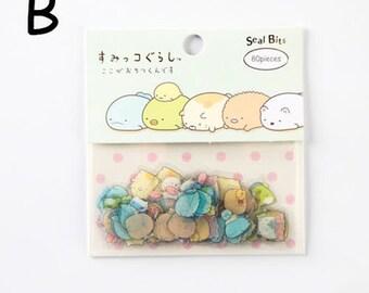 NEW San-X Sumikko Flake Stickers Pack 80PCS BLUE