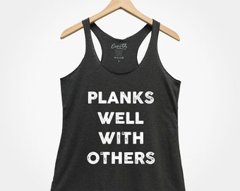 1aea15b1 Planks Well With Others Tank Top, Women's Gym Tank Top, Brunch Shirt, Yoga  Tank Top, Workout Tank Top, Gym Tank Top, Funny Shirt