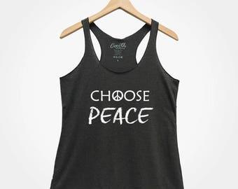c1703bd9246ce5 Choose Peace Tank Top