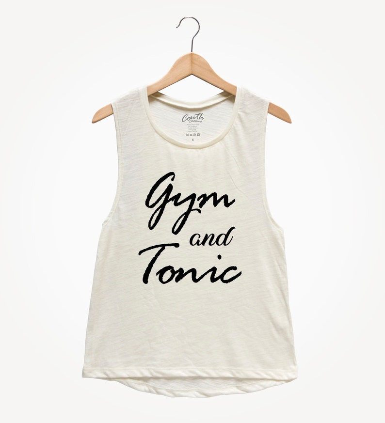 166001a3d Gym and Tonic Women's Muscle Tee Muscle Tank Top Yoga | Etsy