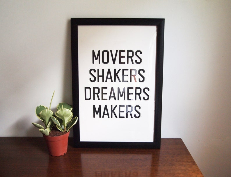 Movers Shakers Print  12x18  Limited Edition image 0