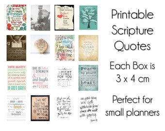 Scripture Quotes Planner Stickers Printable Planner Quotes Etsy