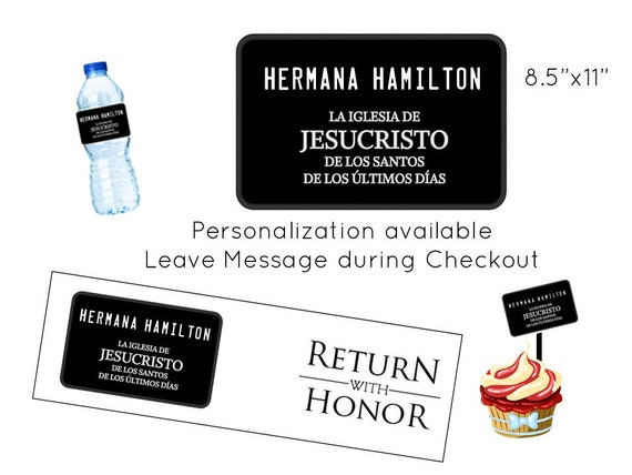 image about Missionary Name Tag Printable referred to as Custom made Tag Missionary Popularity Tag Tailored Printable