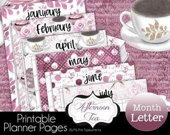 2022 Dated Months Printable Planner   Fits Big Happy Planner Franklin Agenda52 a4 Van der Spek Filofax Letter Size   2022 Best Seller