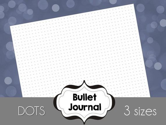 Grid Dots Bullet Journal Printable Paper 9x7 A5 and Letter | Etsy
