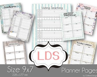 LDS Planner Extention Pages Perfect for adding to any planner - Mormon Mom's Love Them