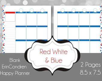 Printable Planner Pages - Weekly Spread - can be used with Happy Planners, or as an Erin Condren Insert