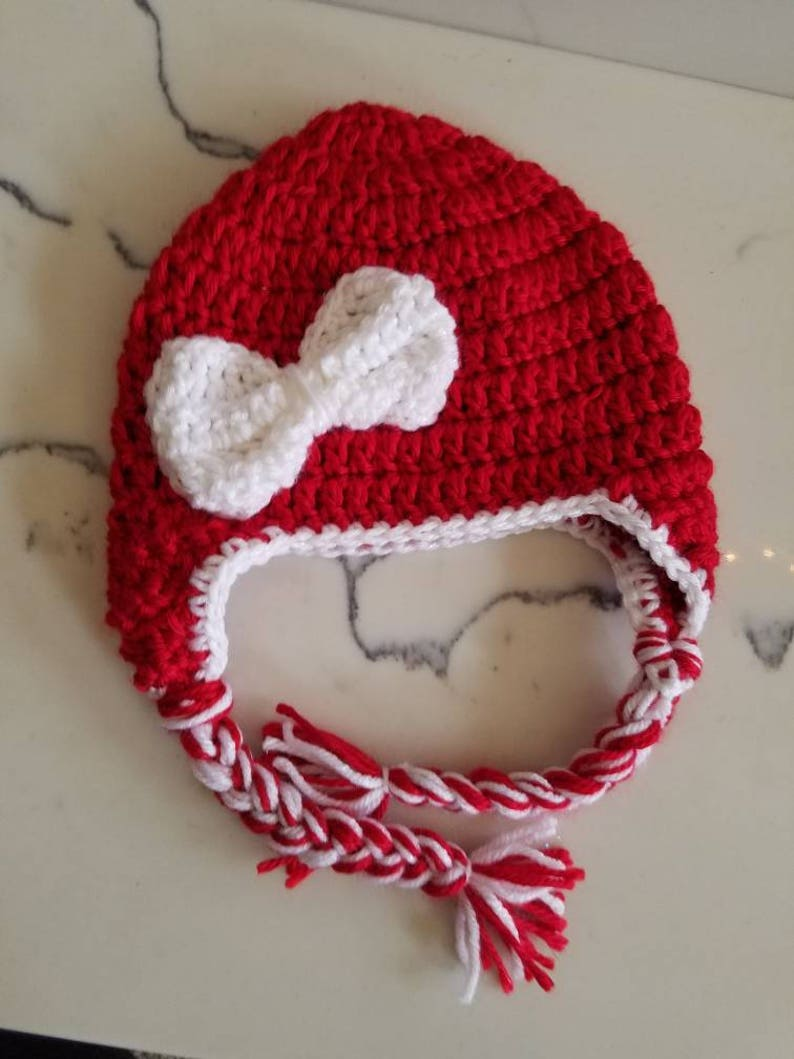 Red hat with Sparkle bow